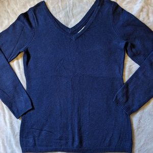 Old Navy Sz M Double V Neck Sweater